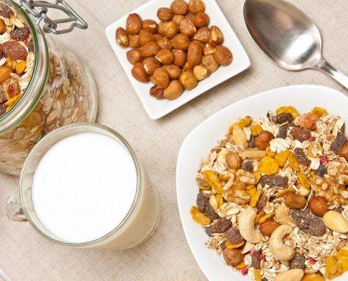 Rezepte - Dinkelmüsli mit Cashewkernen