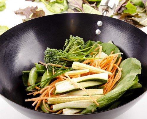 Buntes Gemüse aus dem Wok