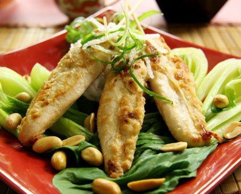 Hühnchen-Spieße mit Lime-Pickle